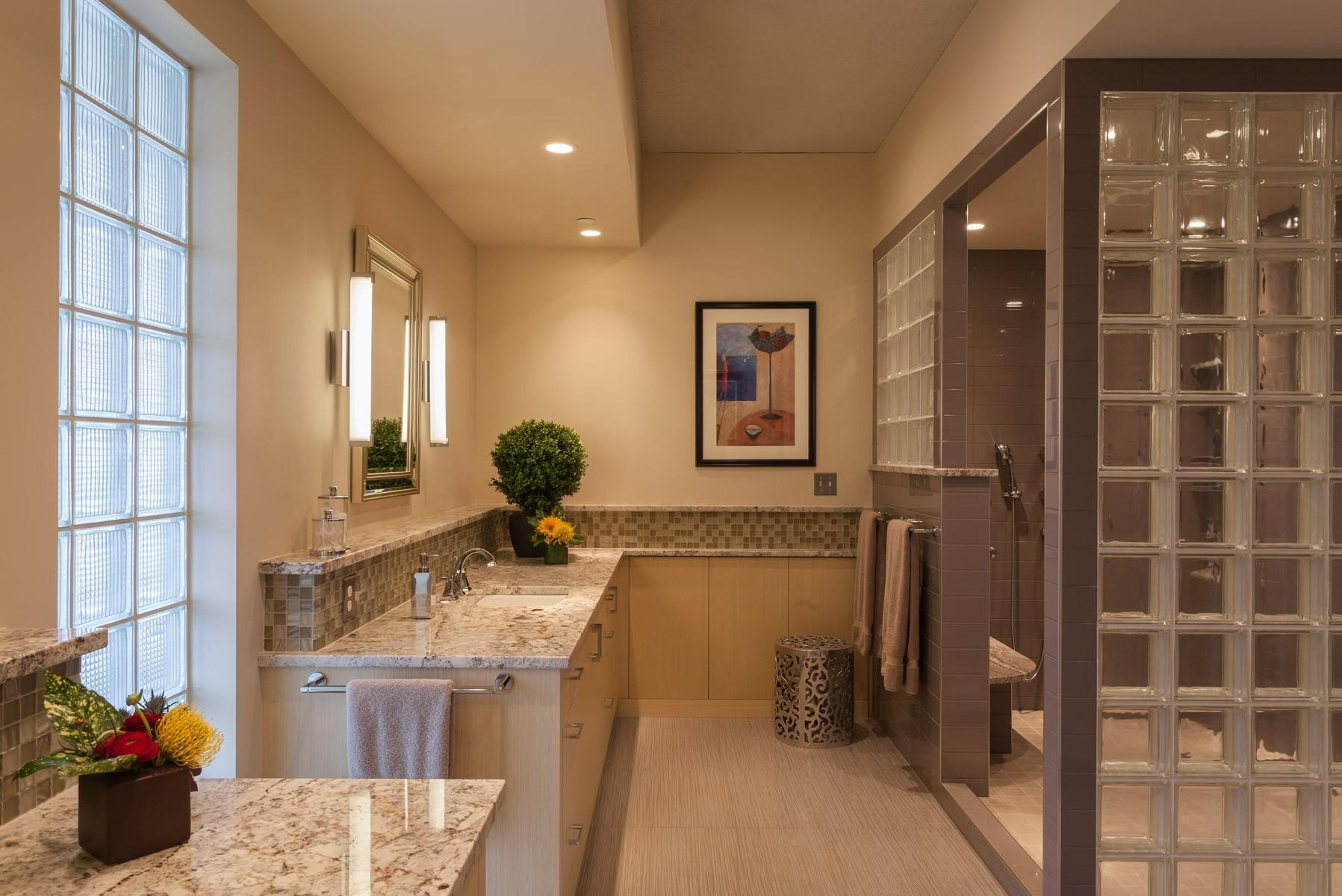 Design Decorated Luxury Condo Bathroom