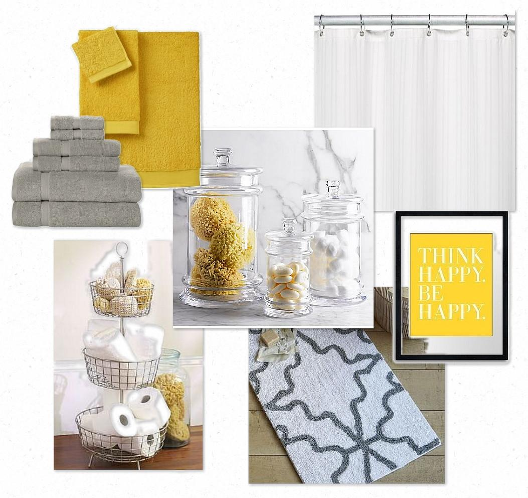Design Gal Her Handyman Gray Yellow Bathroom