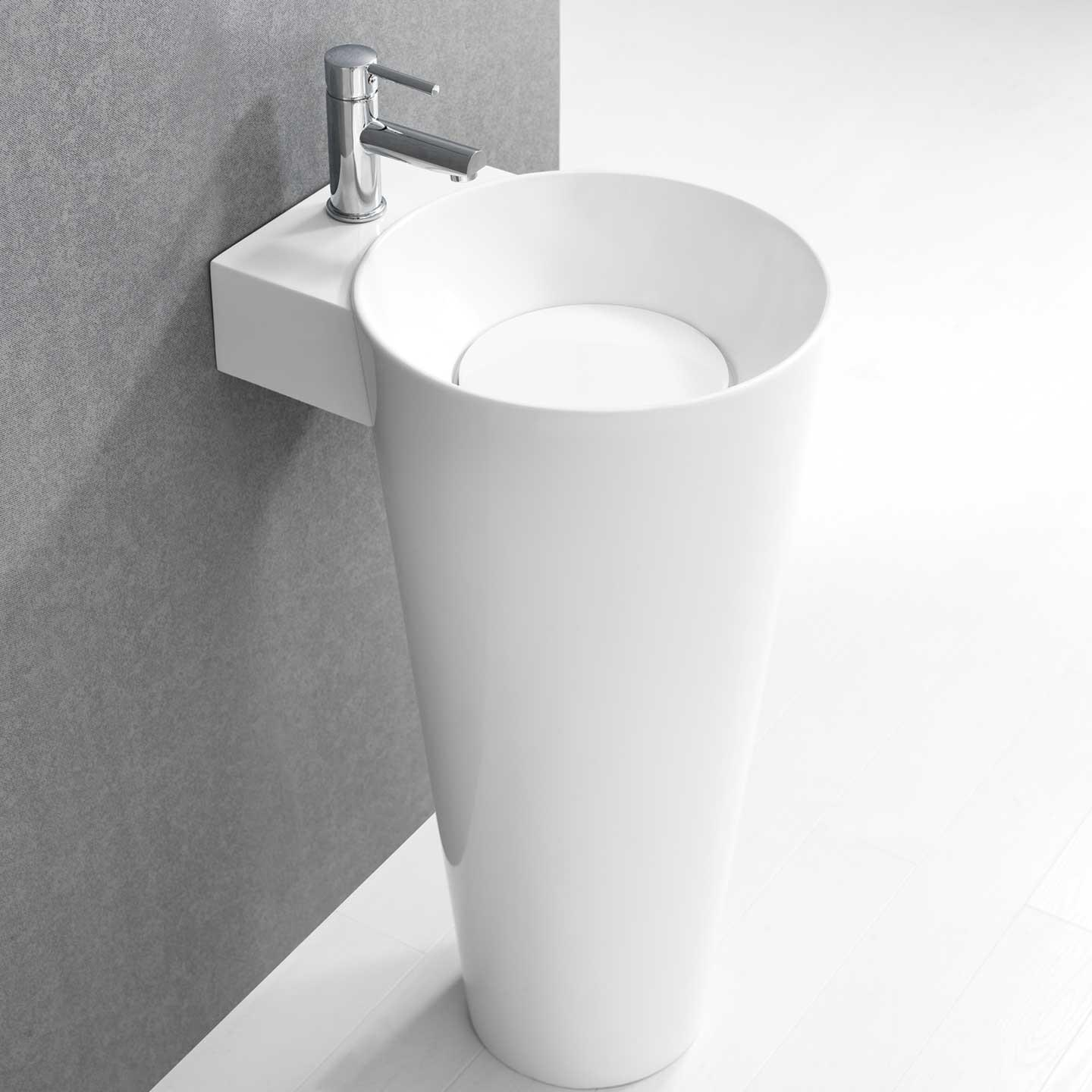 Design Modern Pedestal Sink Some Rooms Decoras