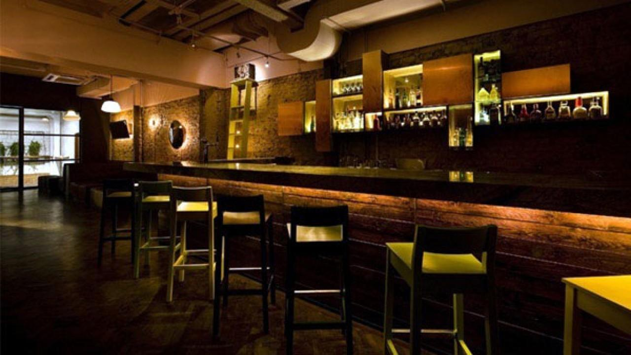 Design Small Space Commercial Bar Modern Back
