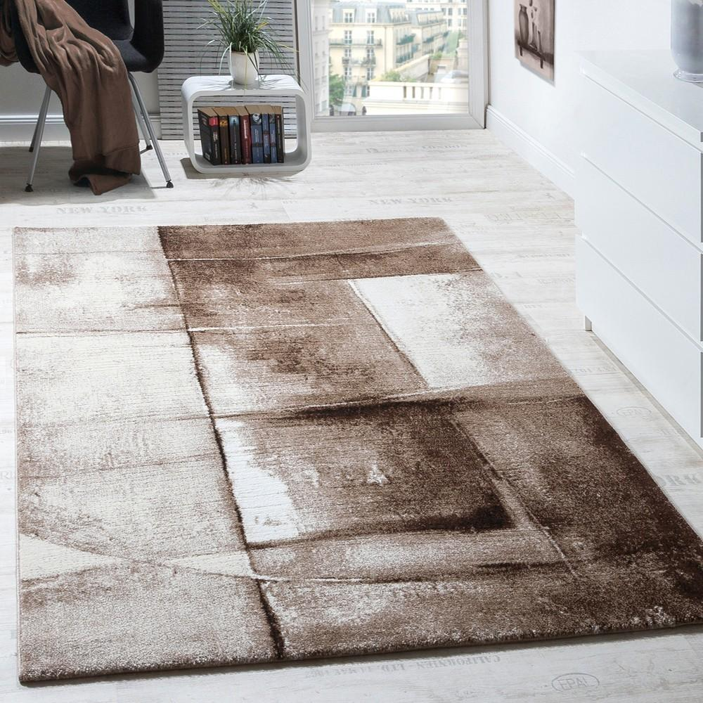 Designer Carpet Modern Rug Chequered Trendy Mottled