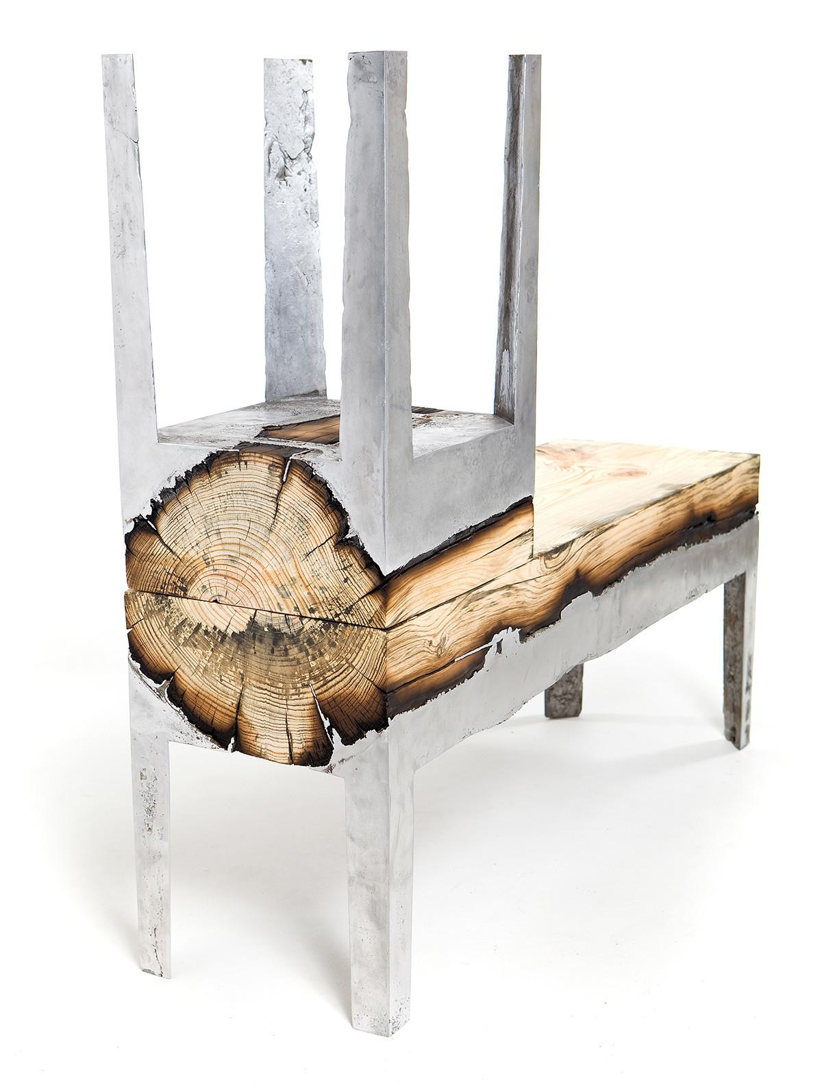 Designer Hilla Shamia Uses Cast Aluminum Tree Trunks