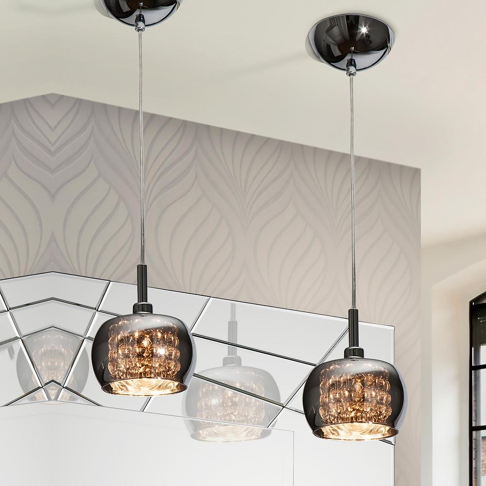Designer Smoked Glass Pendant Light Juliettes Interiors