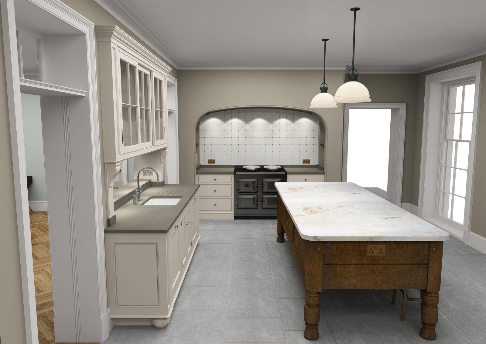 Designing Country House Kitchen Island Artichoke