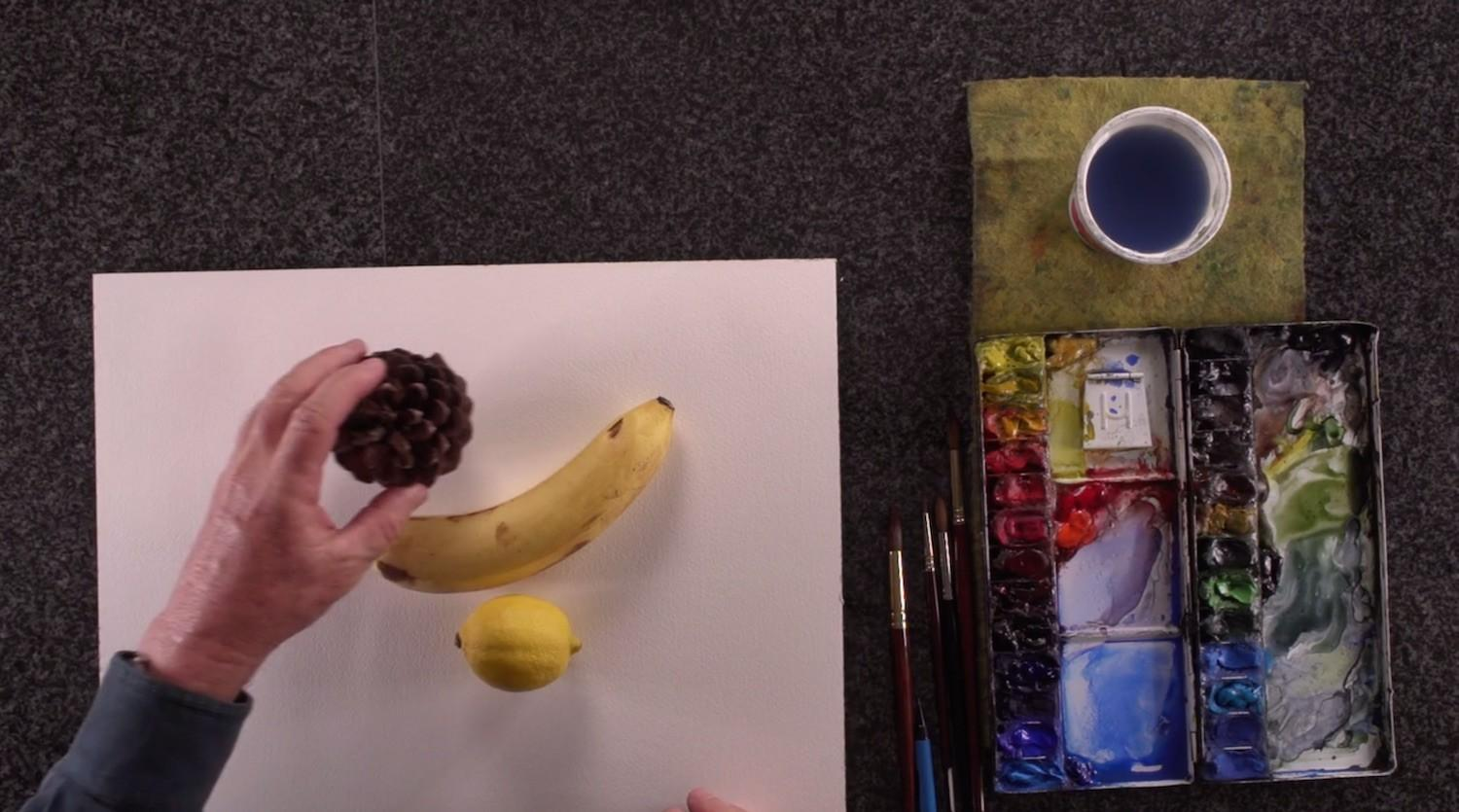 Designing Still Life Composition Watercolor Painting