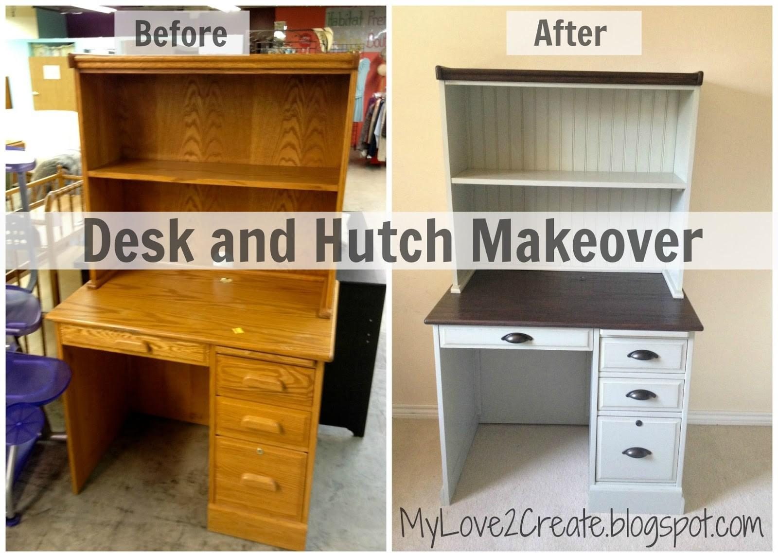 Desk Hutch Makeover Love Create