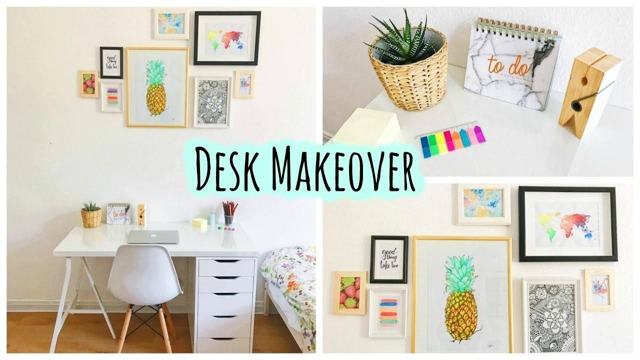 Desk Makeover Diy World Painting More Crafts
