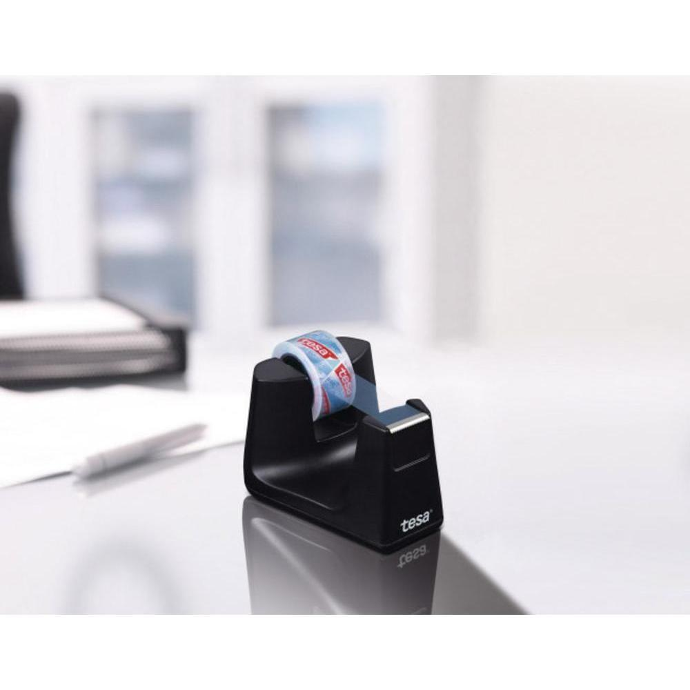 Desk Tape Dispenser Tesa Tesafilm Black Conrad