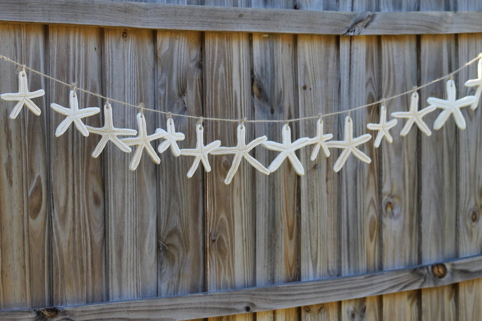 Desperate Craftwives Salt Dough Starfish Garland