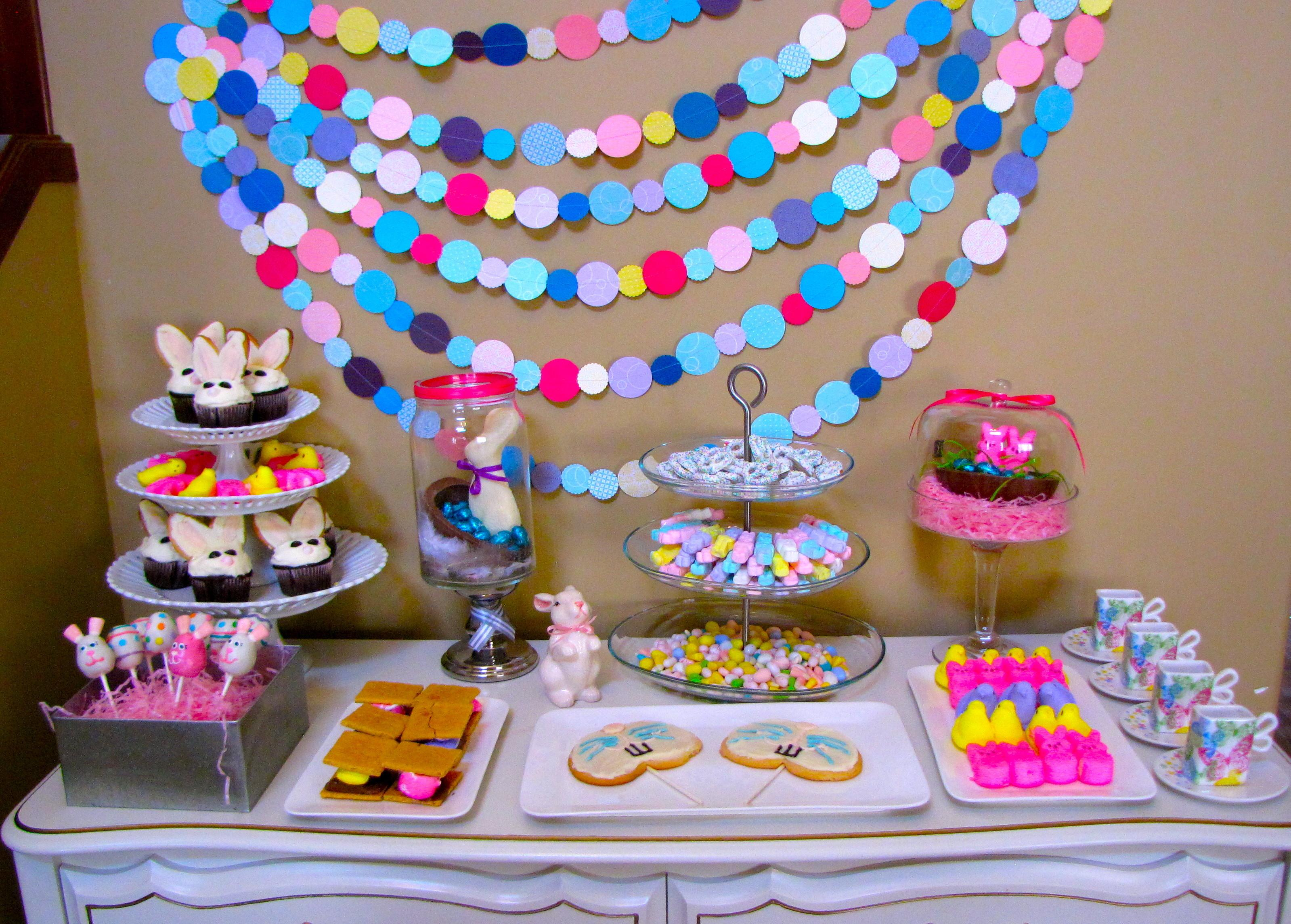 Dessert Table Our Colorful Easter Brunch