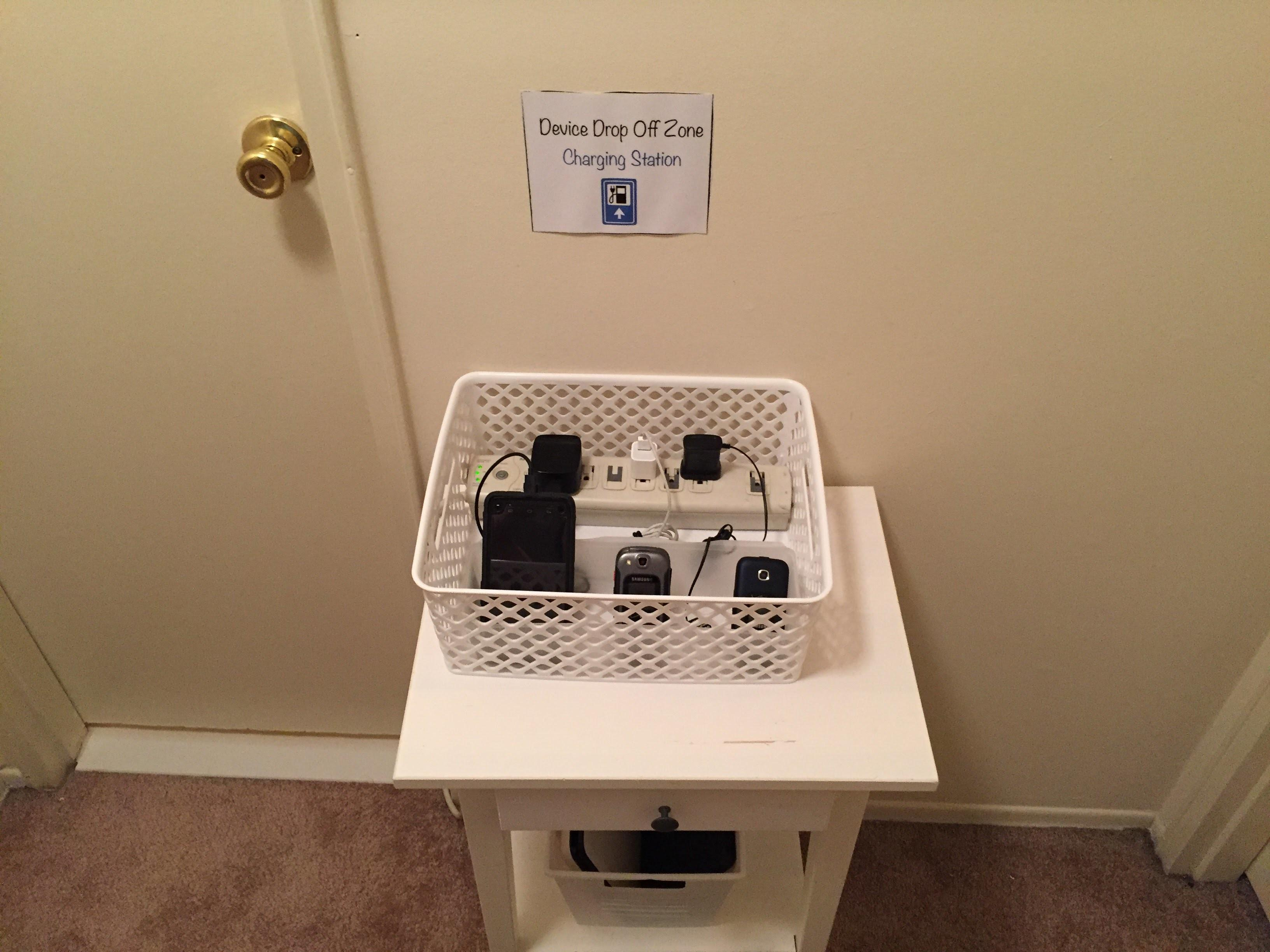 Device Charging Station Drop Zone Diy