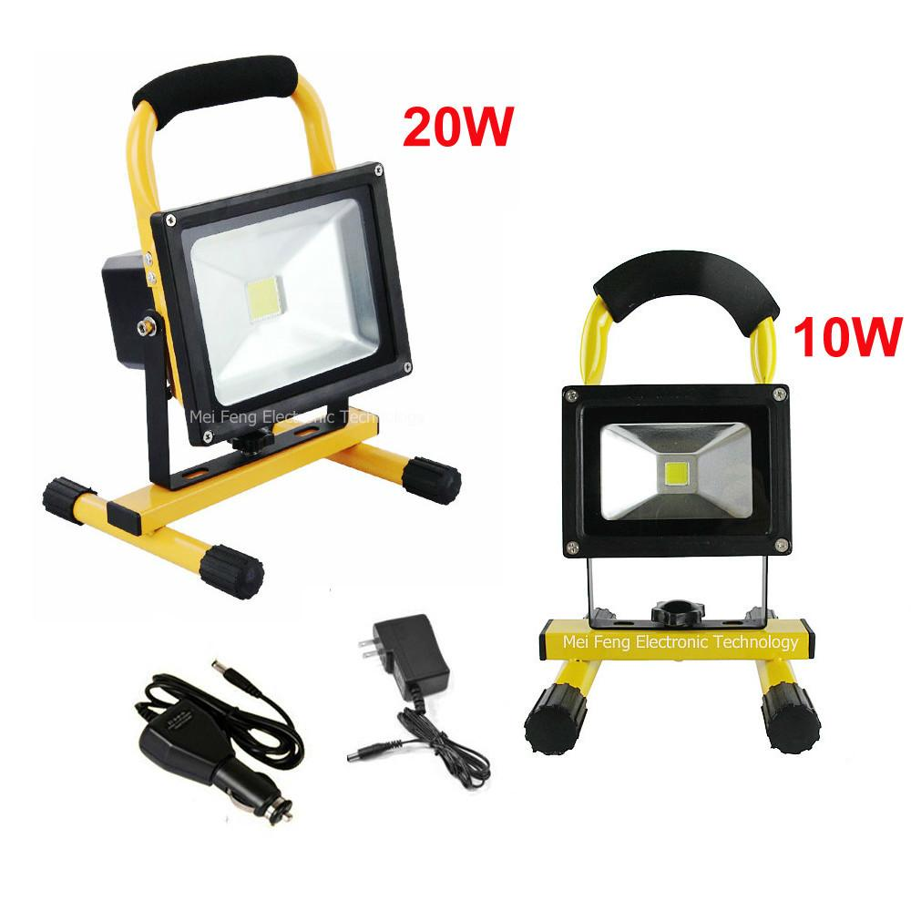 Dhl Shipping 10w 20w Led Floodlight Outdoor Cordless
