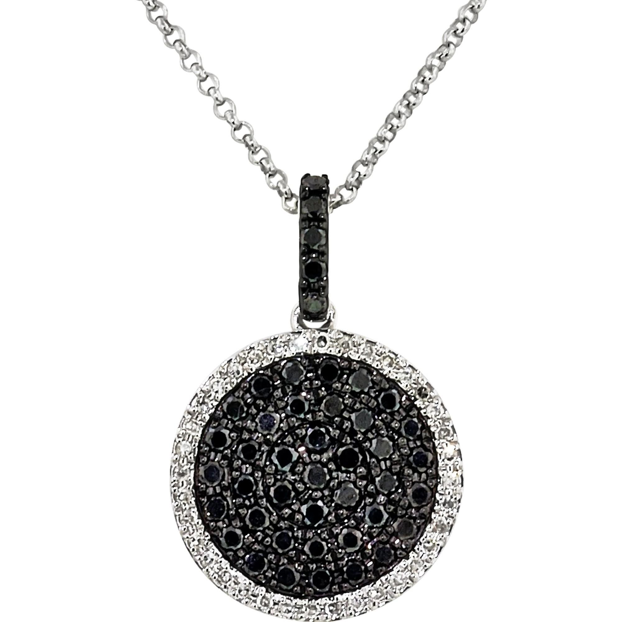 Diamonds Necklace Men Black Eternity Jewelry