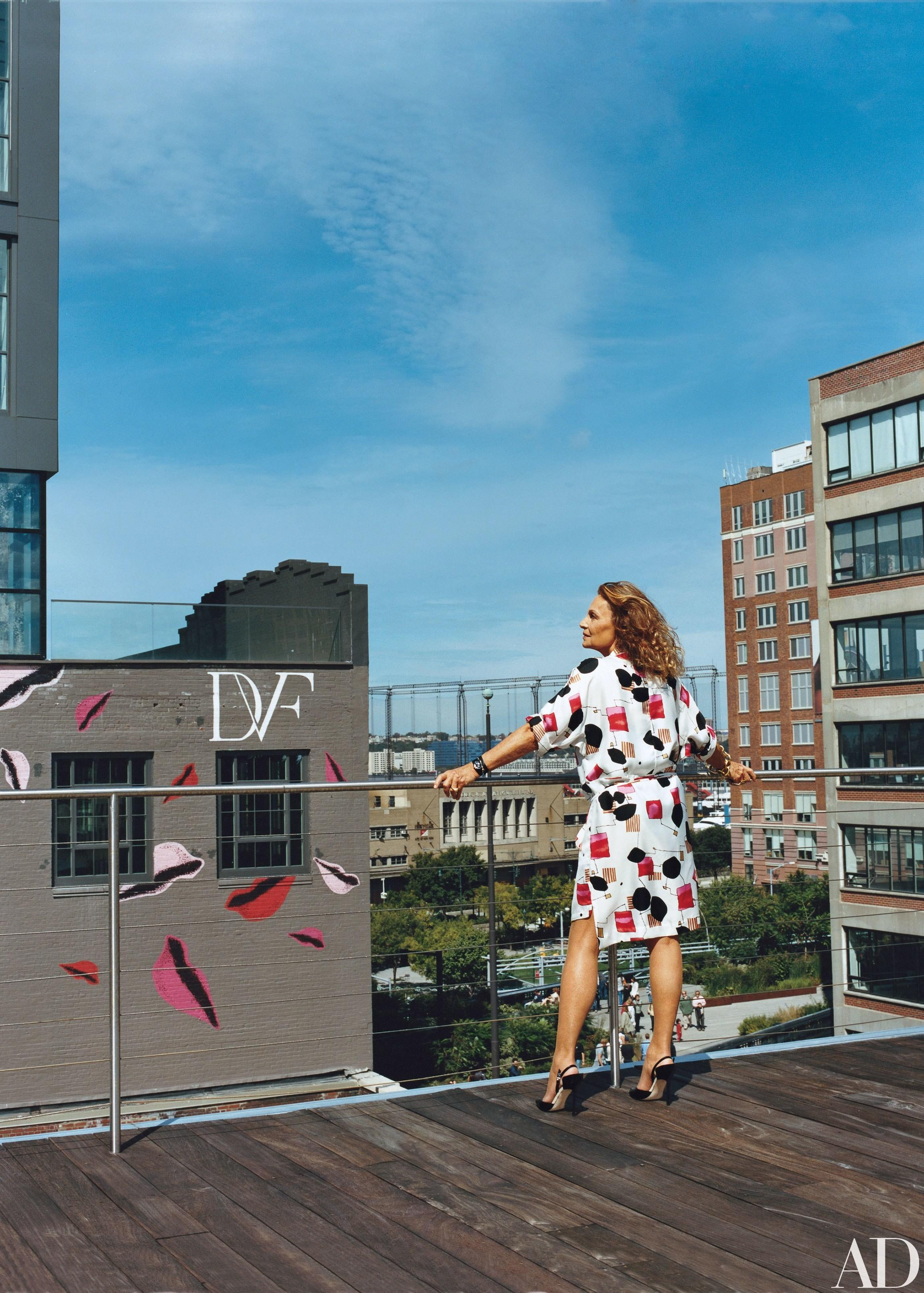 Diane Von Furstenberg Fashionable Manhattan Penthouse