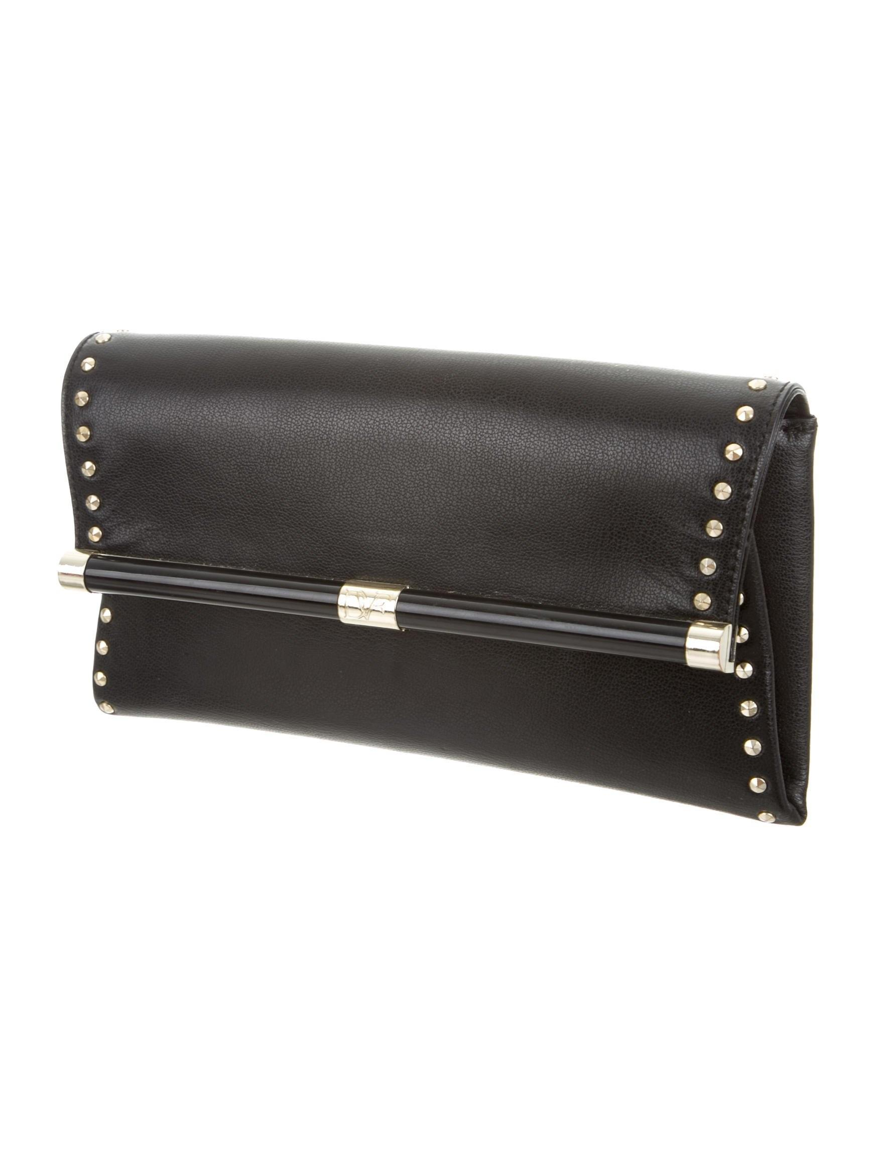 Diane Von Furstenberg Leather Flap Clutch Handbags