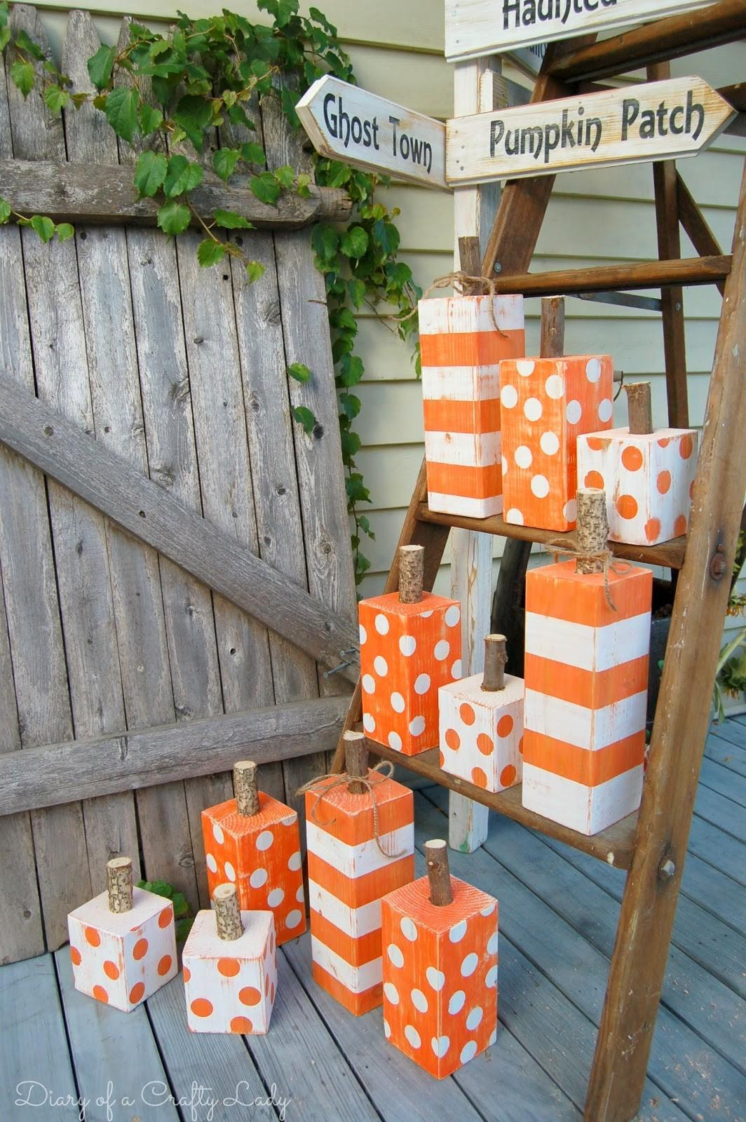 Diary Crafty Lady Post Painted Pumpkins