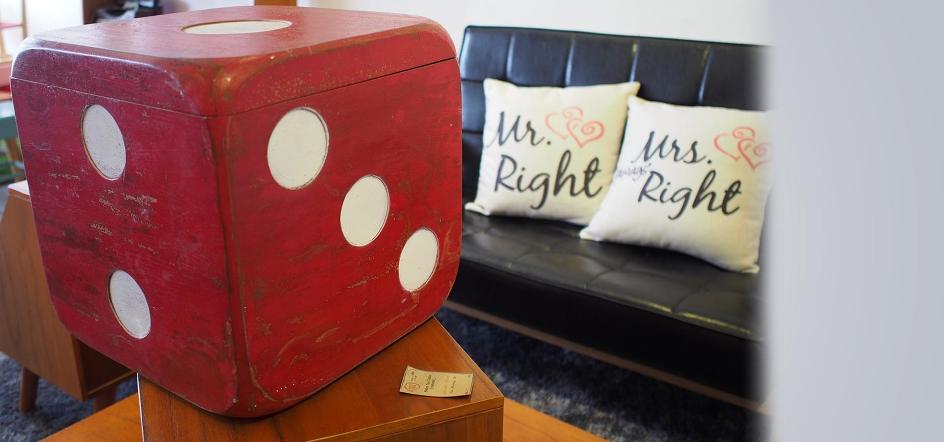 Dice Cube Side Table Chair Store Furniture