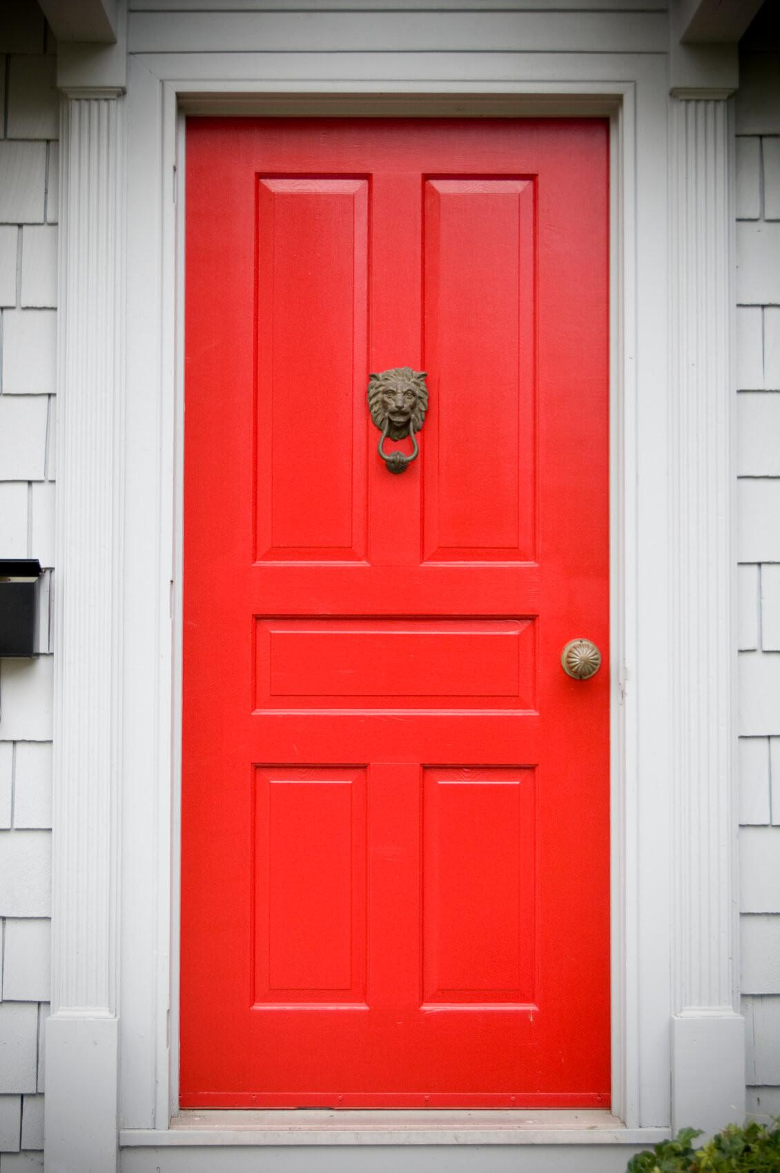 Different Red Front Doors Many Designs