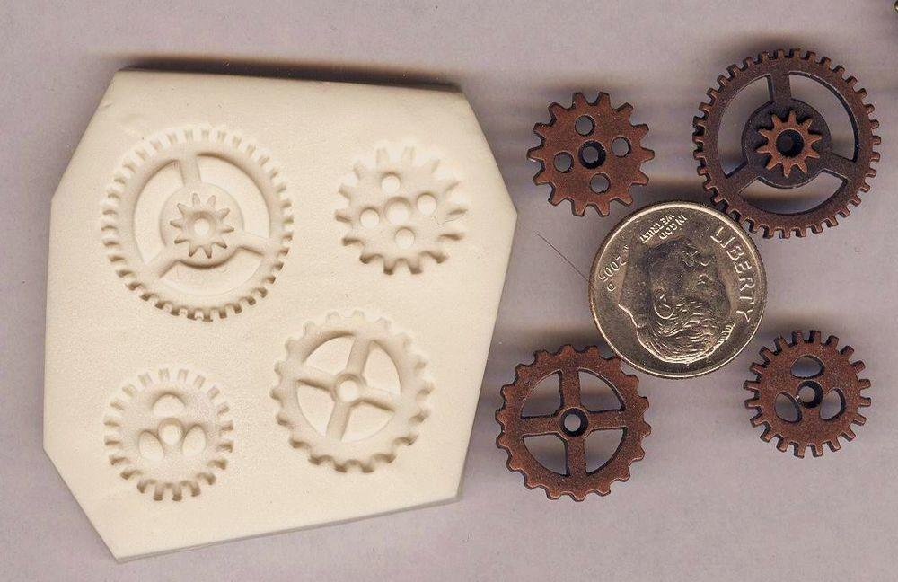 Differnt Shapes Sizes Gears Steampunk Polymer Clay