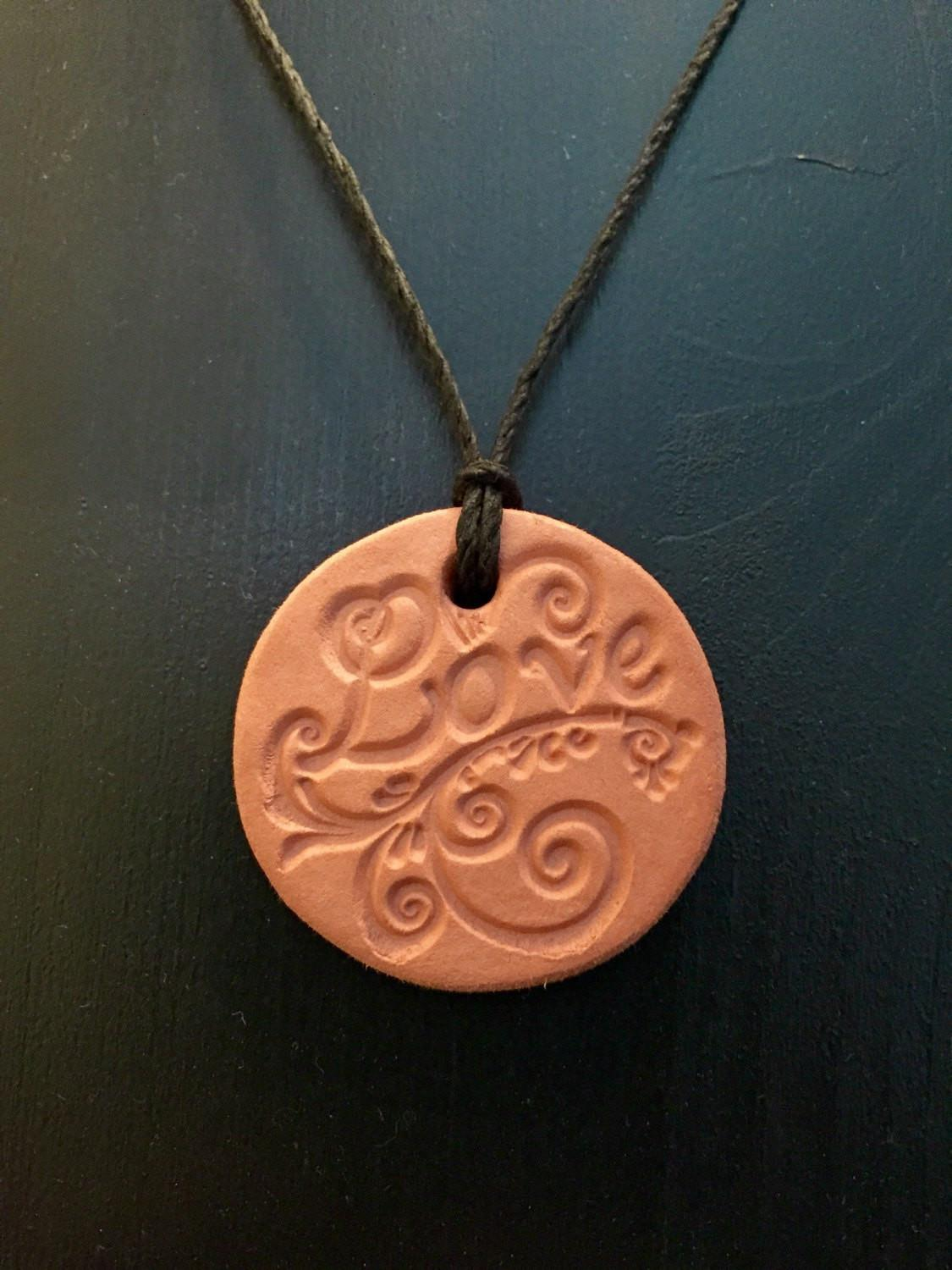Diffuser Necklace Clay Aromatherapy Essential Oils