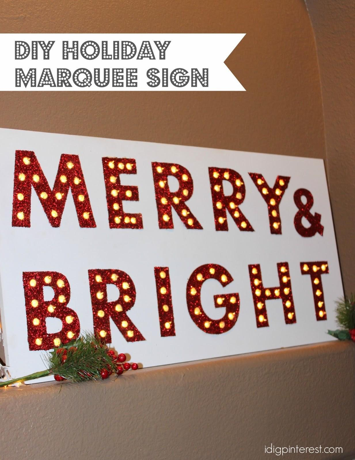 Dig Diy Holiday Marquee Let Snow Sign