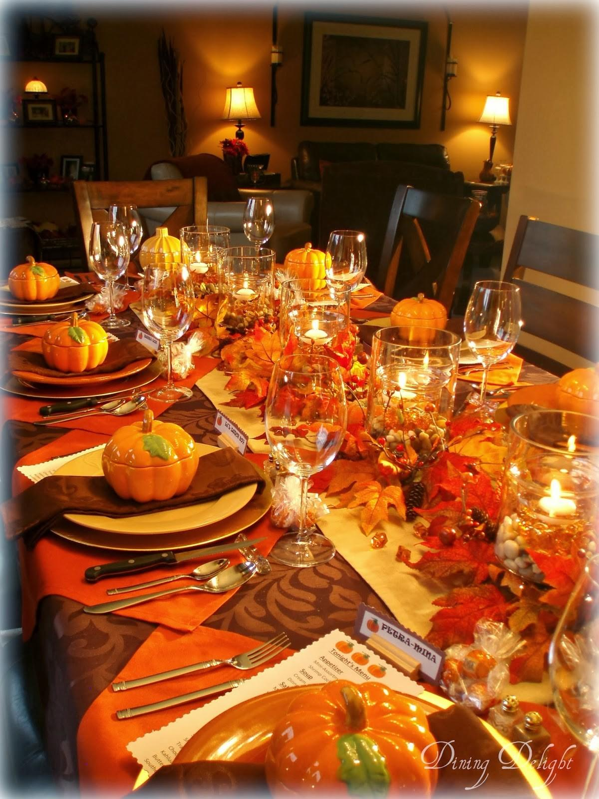 Dining Delight Fall Dinner Party Ten