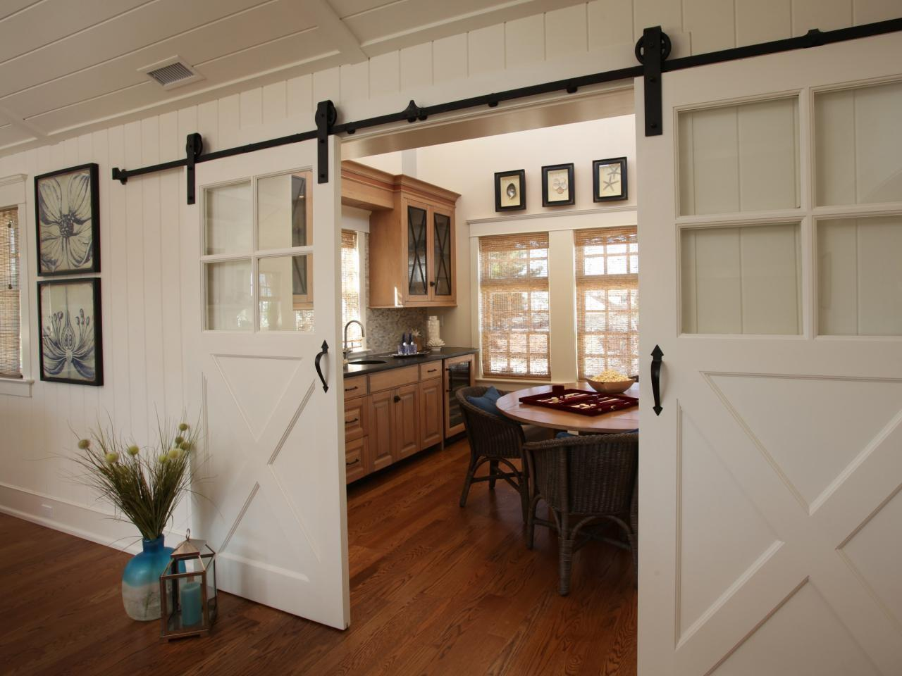 Dining Room Barn Doors Stamford Home