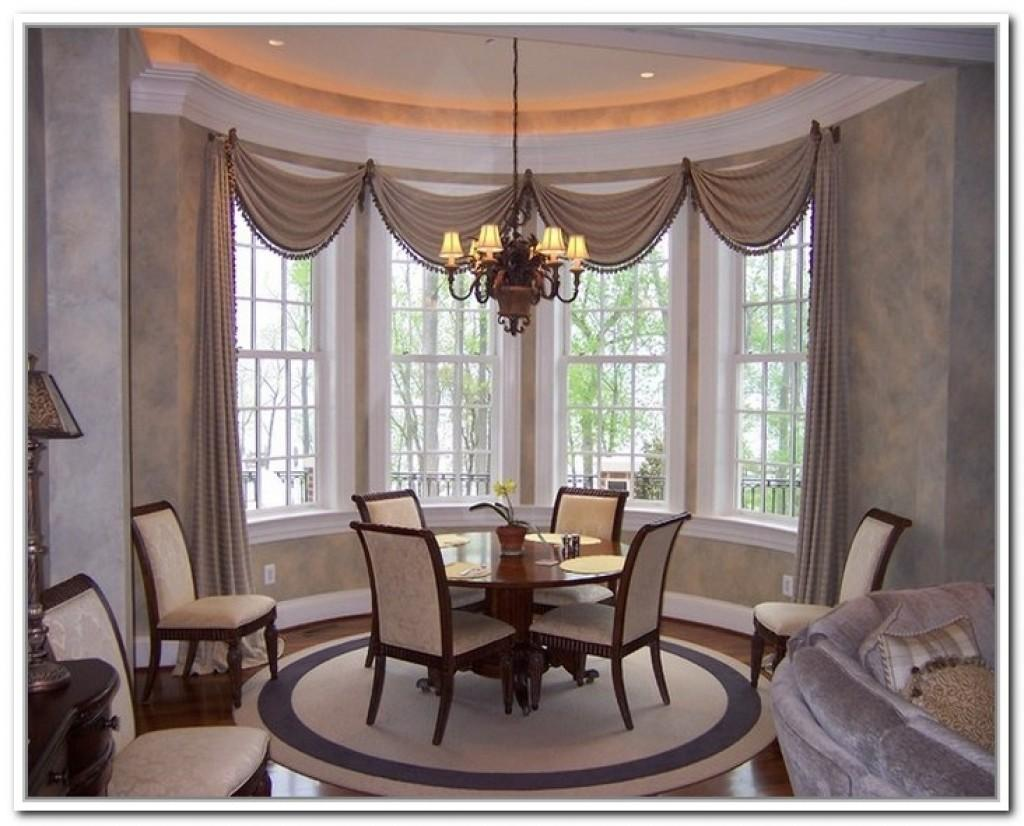 Dining Room Bay Window Treatments 1000 Ideas