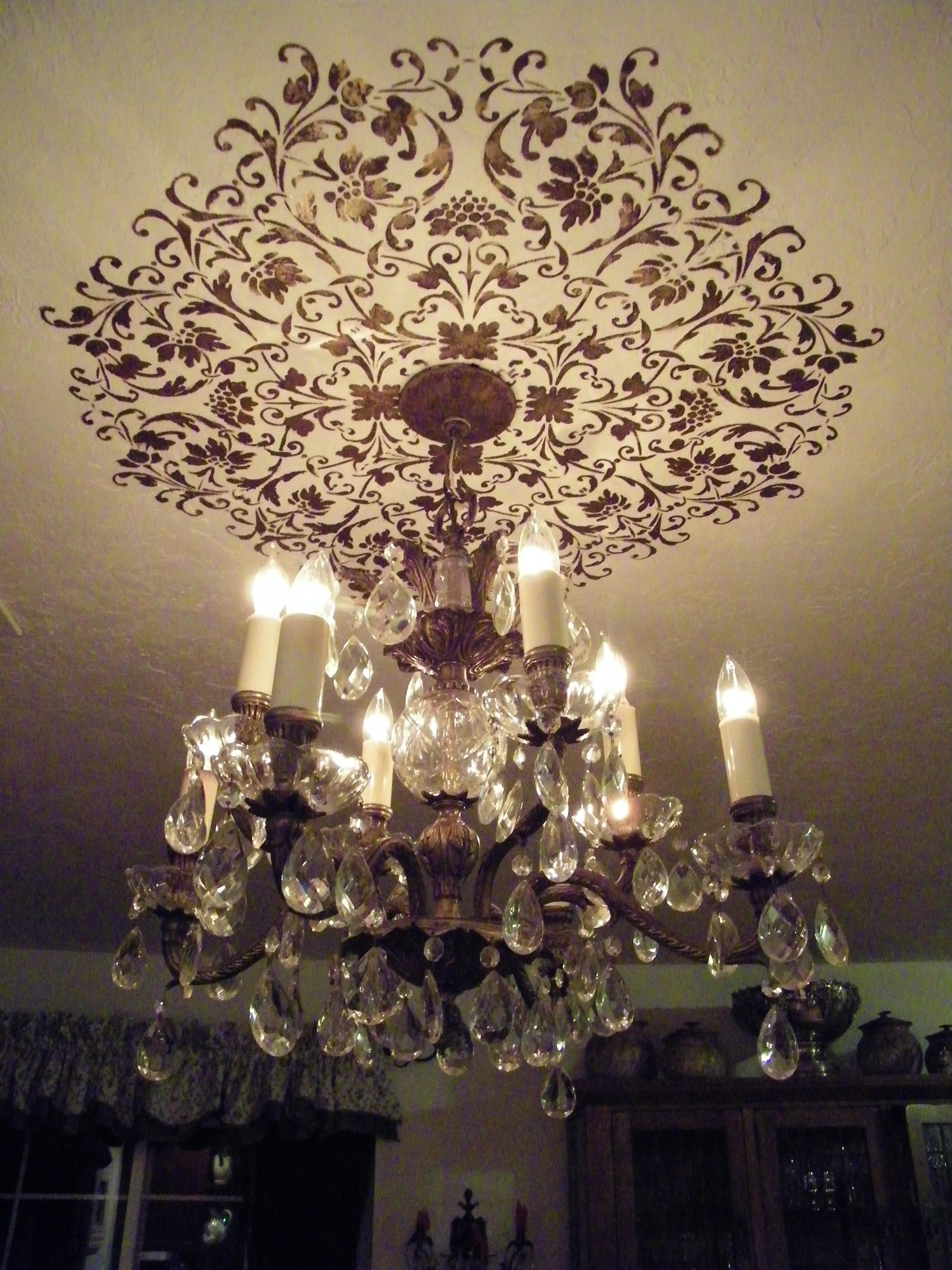 Dining Room Ceiling Medallion Stencil Wow