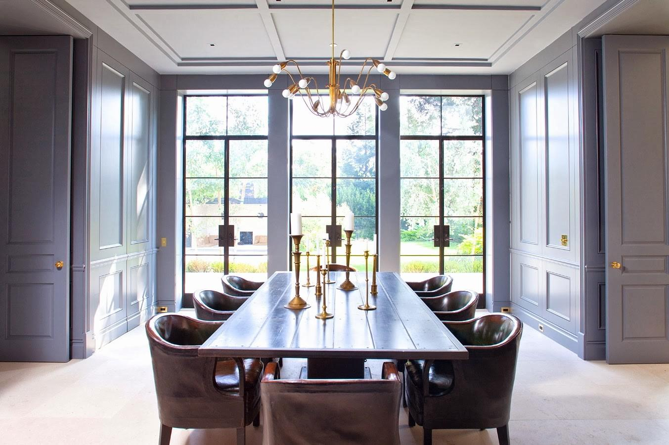 Dining Room Design Blue Color Model Home Interiors