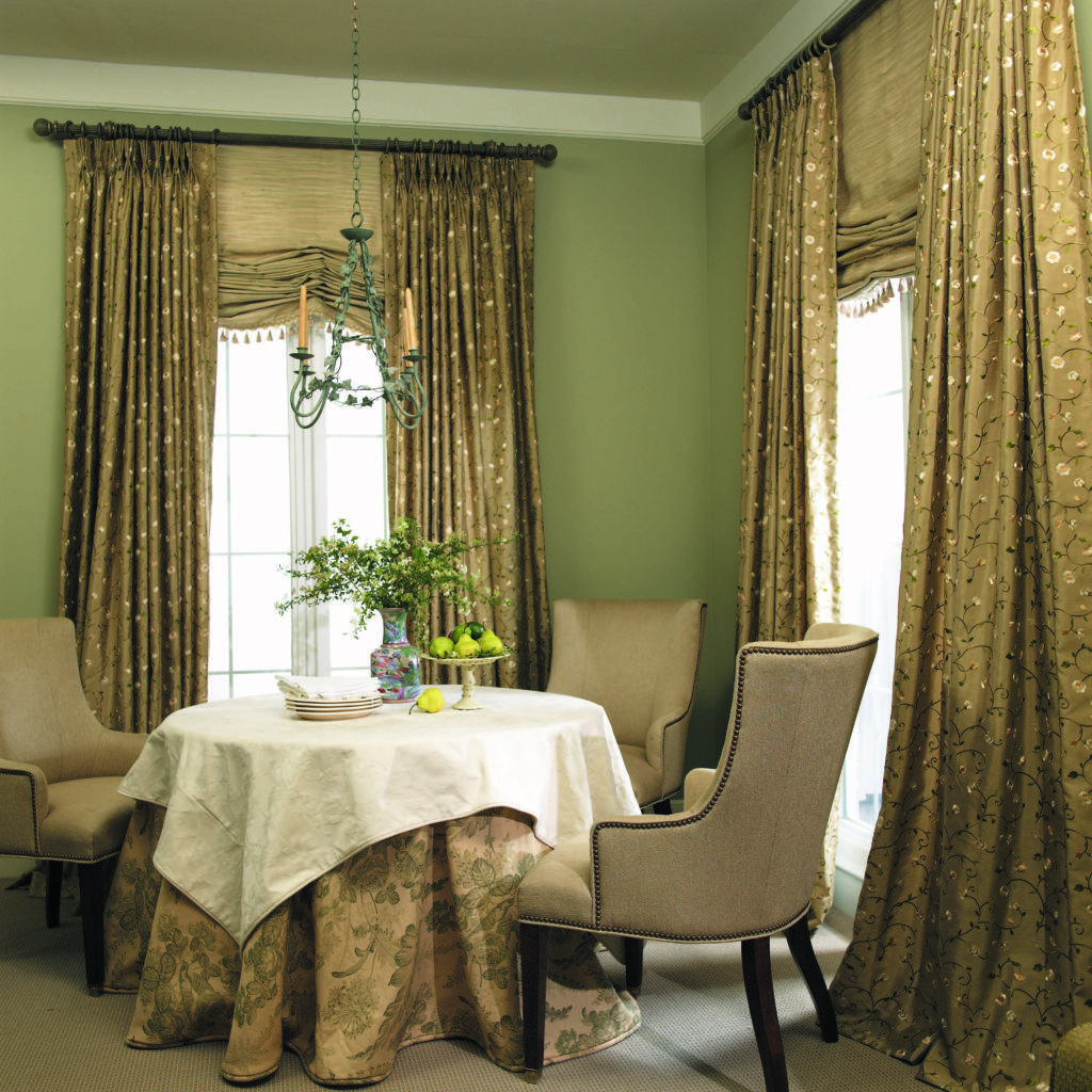 Dining Room Drapery Ideas Stylish Window Treatments