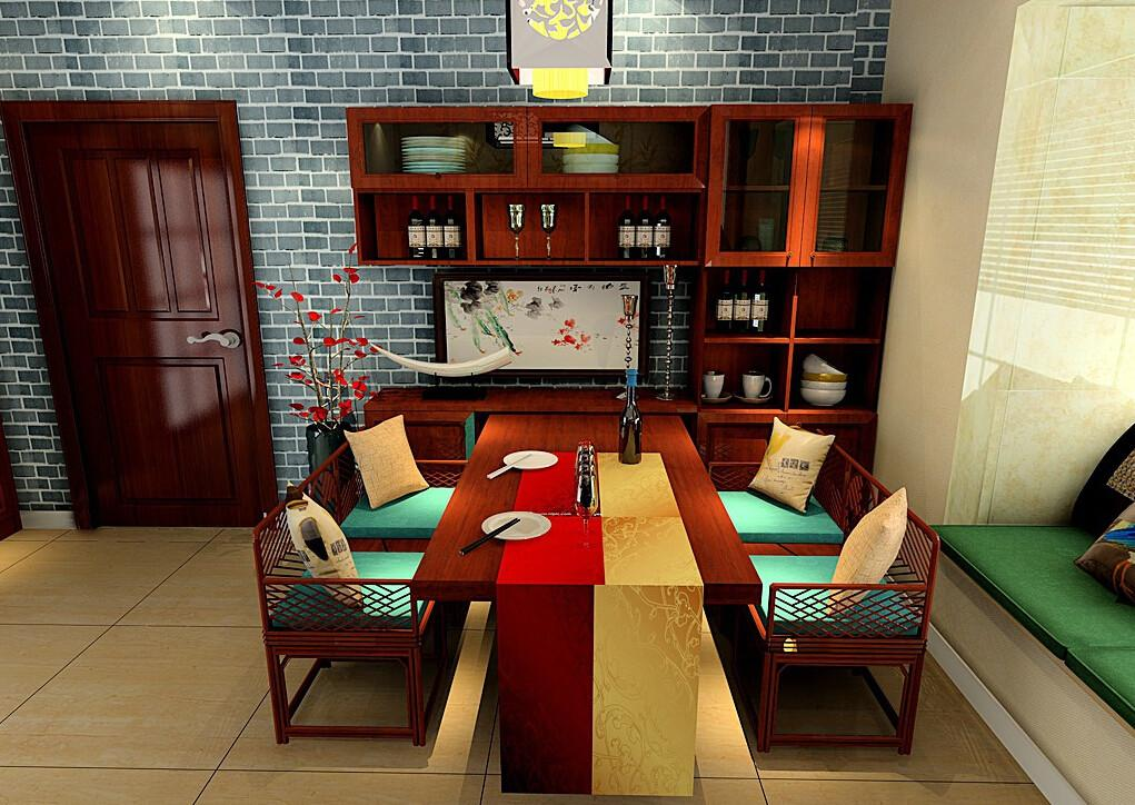 Dining Room Furniture Brick Wall Chinese Style