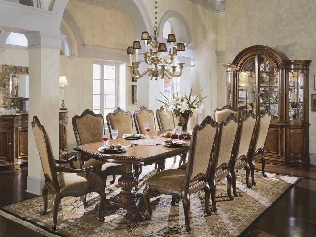 Dining Room Large Table Seats Modern