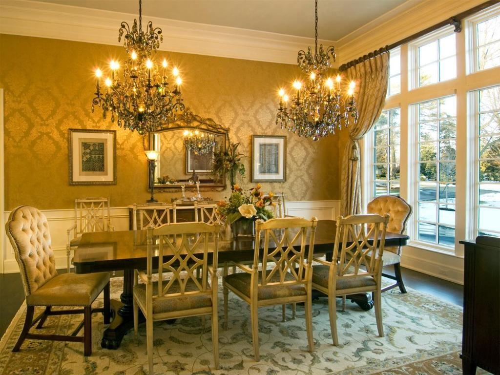 Dining Room Luxurious Classic Victorian