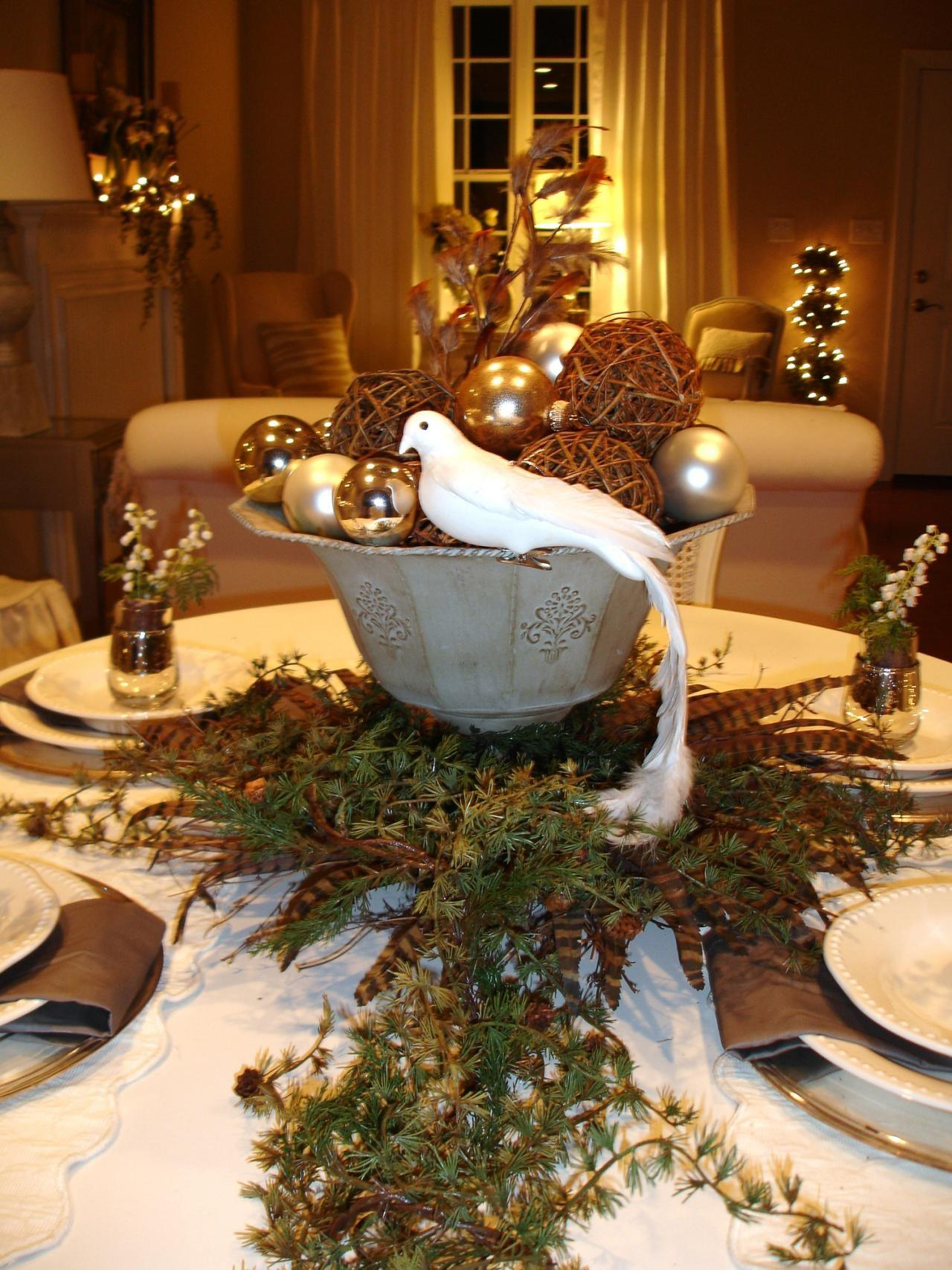 Dining Room Modern Design Christmas Table Setting Ideas