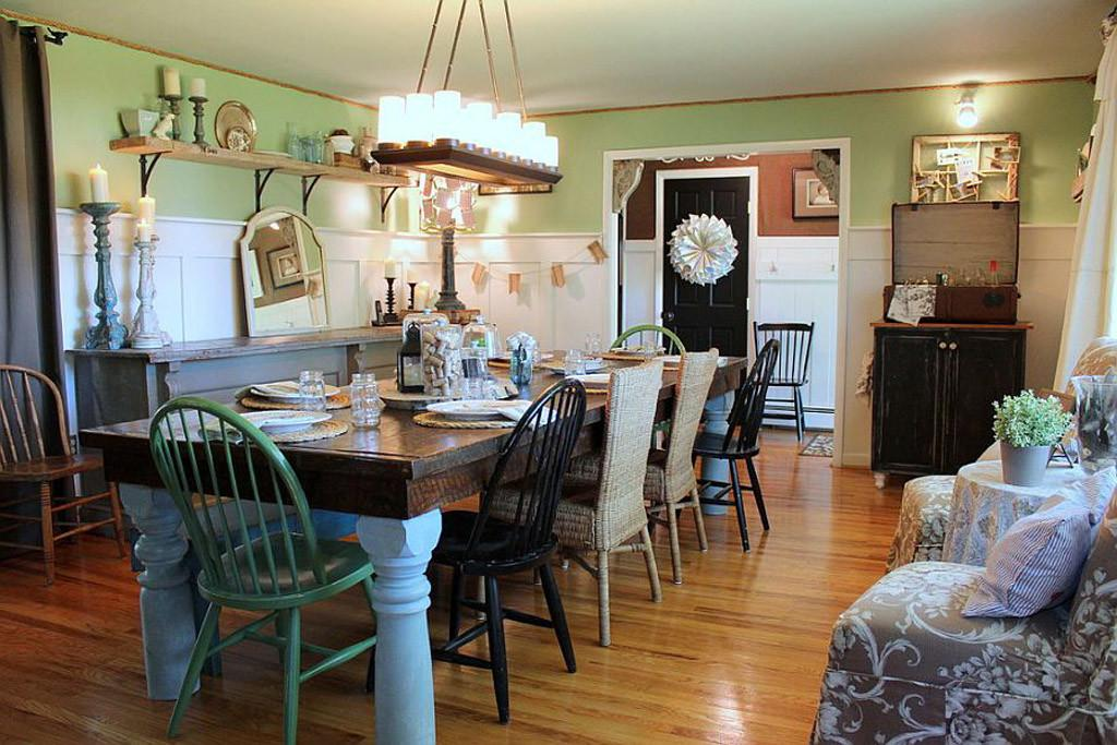 Dining Room Shabby Chic Farmhouse Style