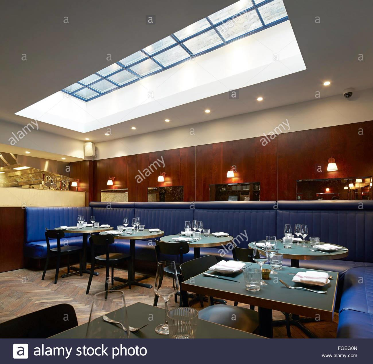 Dining Room Skylight Upholstered Bench Seating