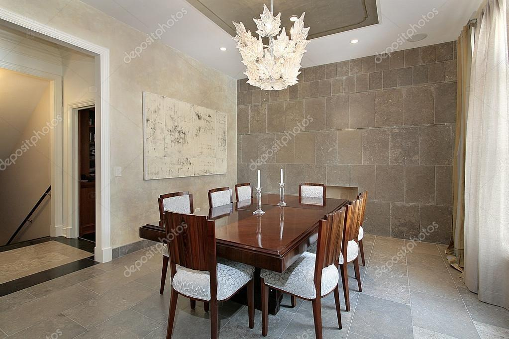 Dining Room Stone Walls Stock Lmphot