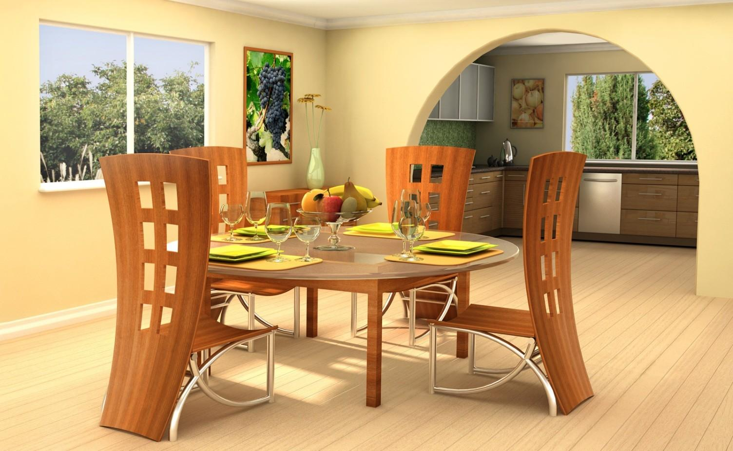 Dining Room Unique Tables Large Round Wood Sets
