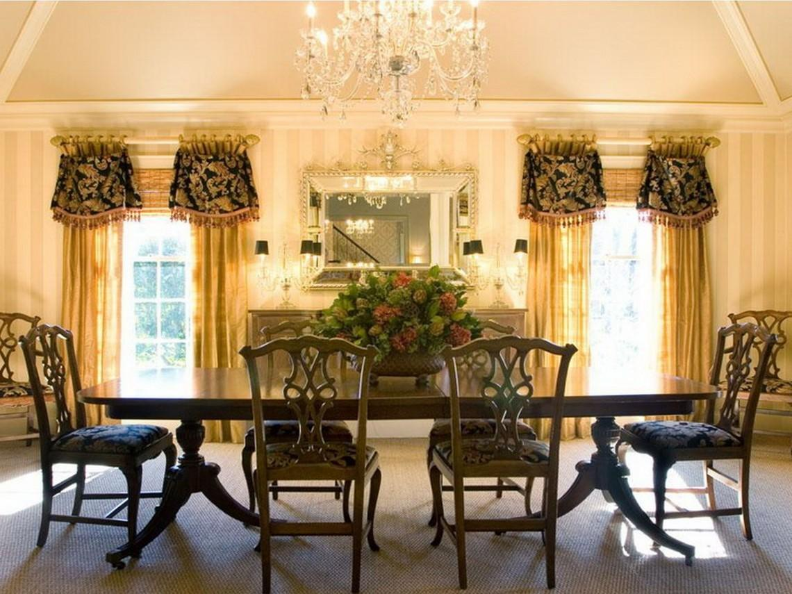 Dining Room Window Treatment Ideas Home Design Concept