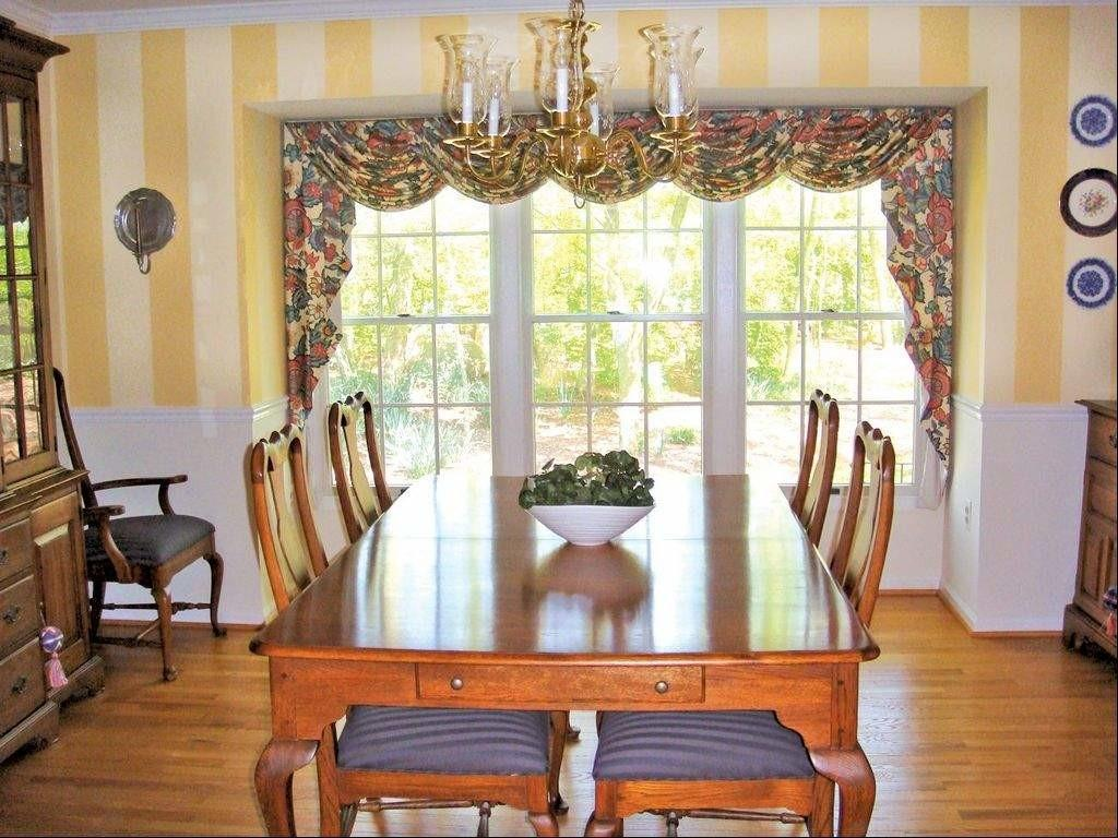 Dining Room Window Treatment Ideas Stickered Wall