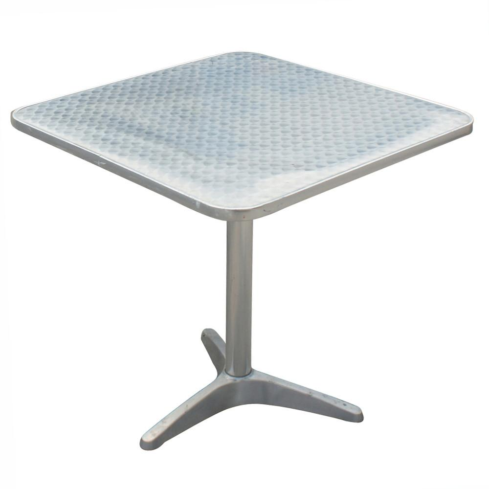Dining Table Brushed Stainless Steel