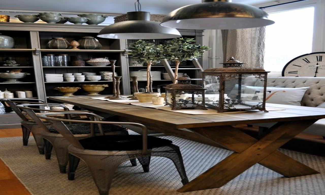 Dining Table Decor Rustic Industrial Room