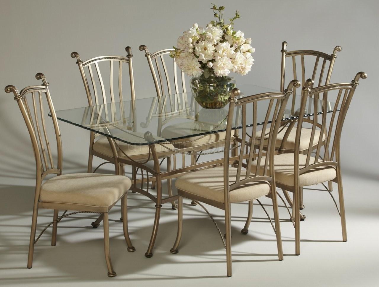 Dining Table Glass Top Chairs Modern