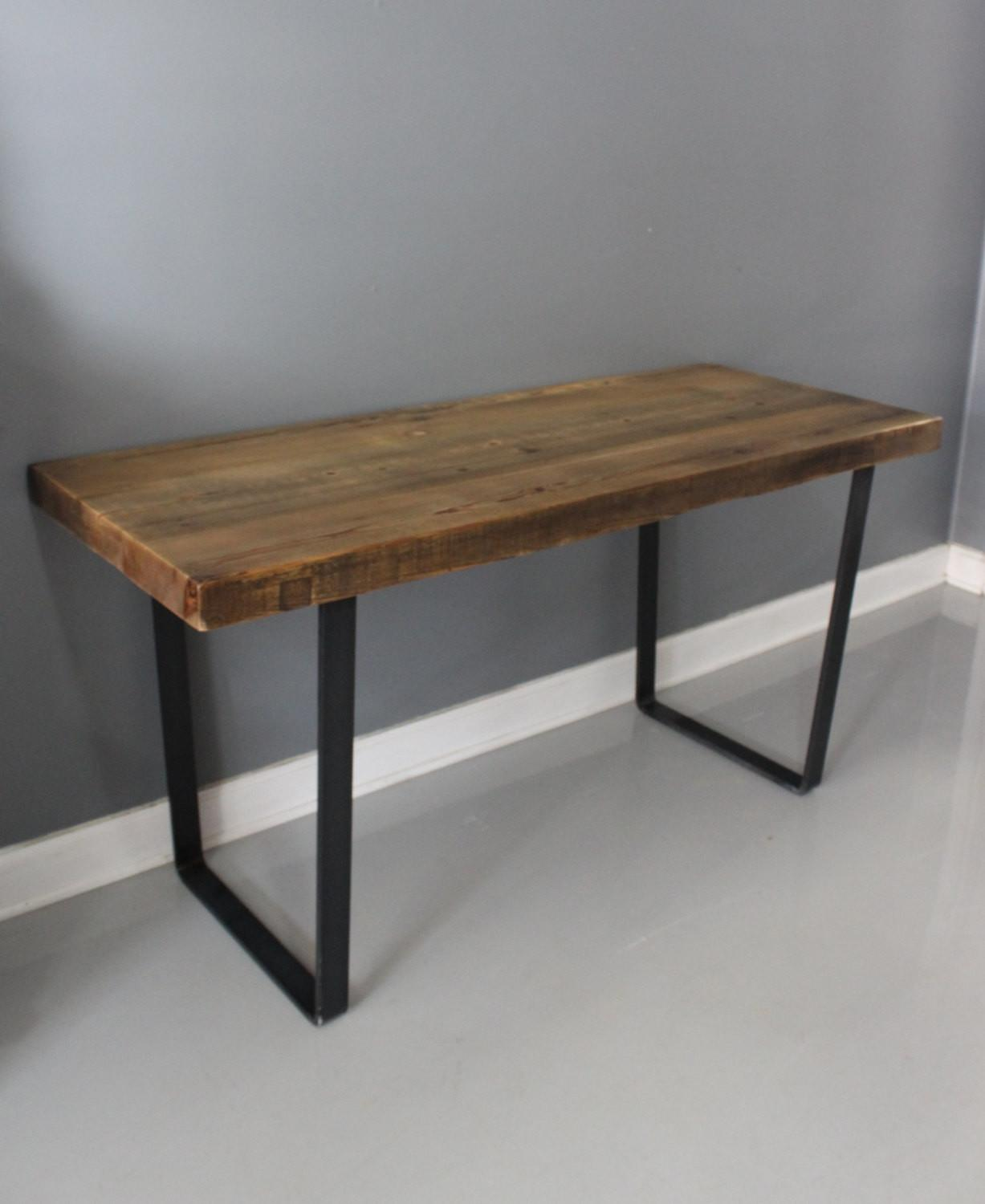 Dining Table Reclaimed Wood Industrial Steel Thick Dendroco