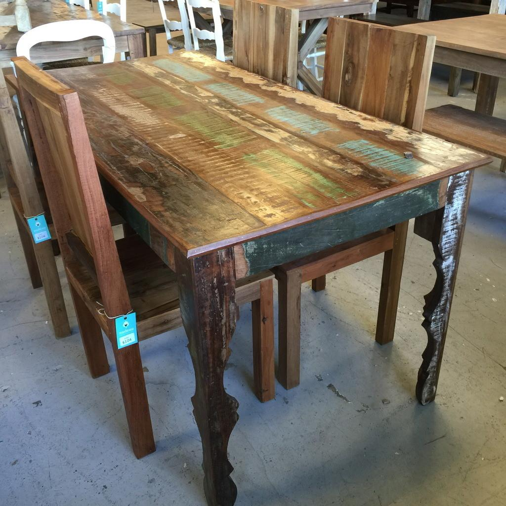 Dining Tables Rustic Table Reclaimed Wood Trestle