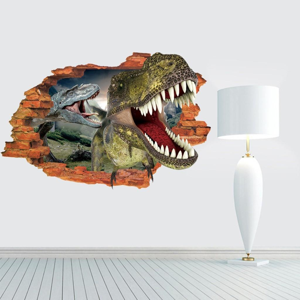 Dinosaurs Wall Stickers Funny Decals Kids