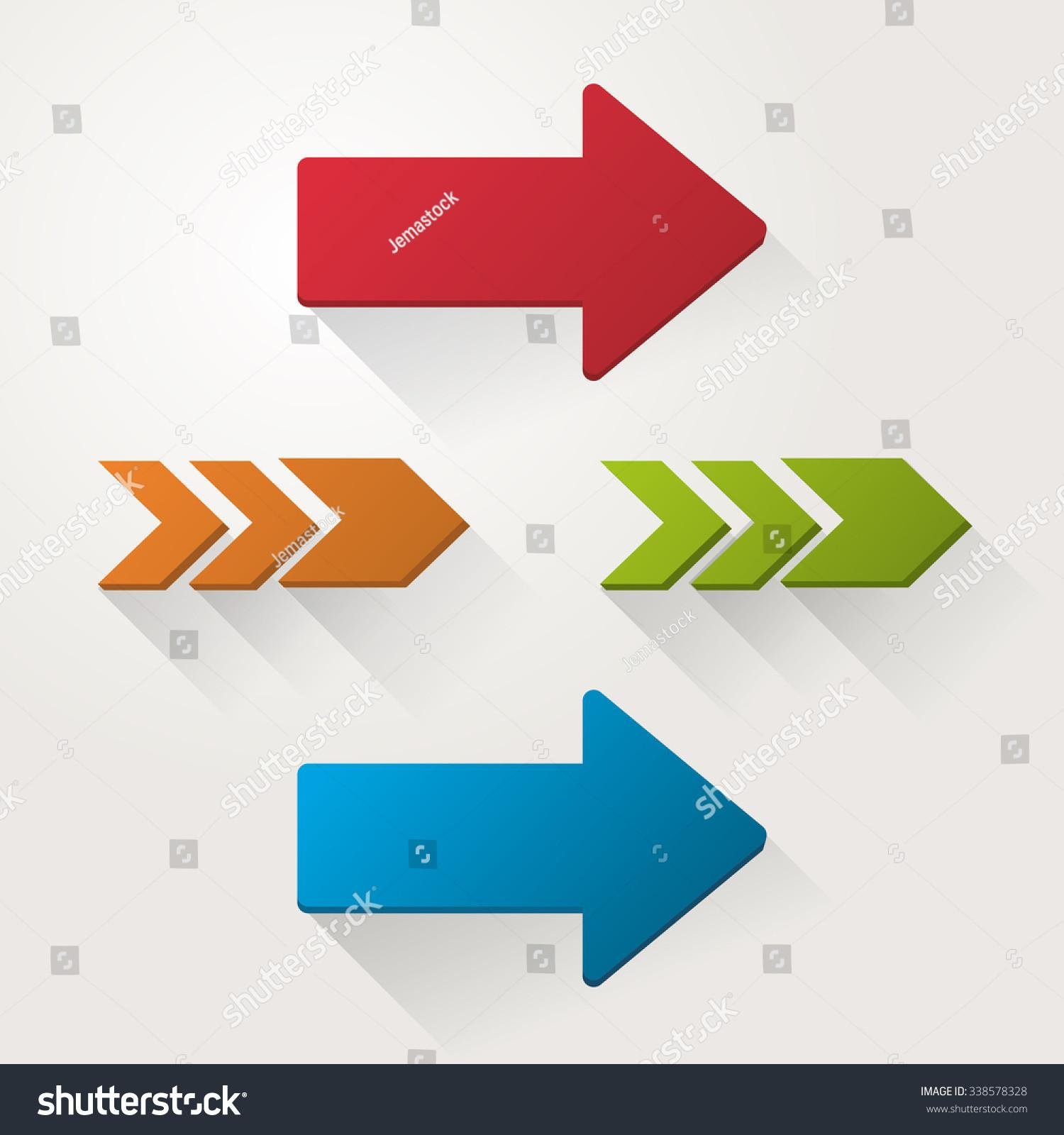 Direction Concept Arrow Design Vector Illustration Stock