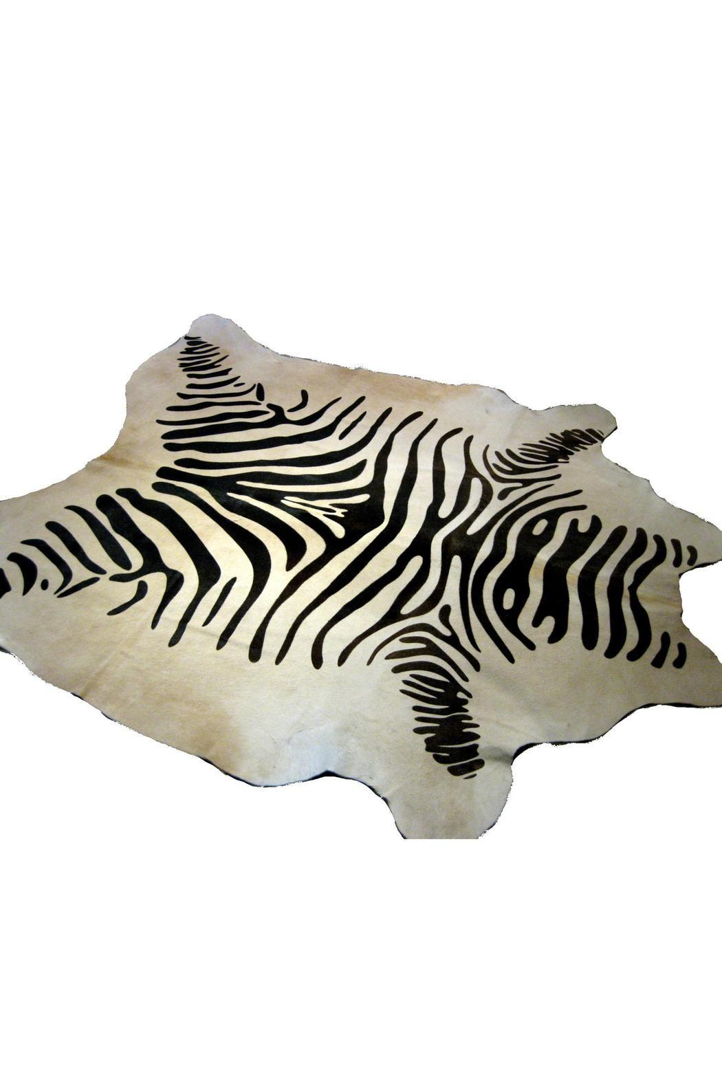 Dise Bos Zebra Brazilian Cowhide Rug Boston