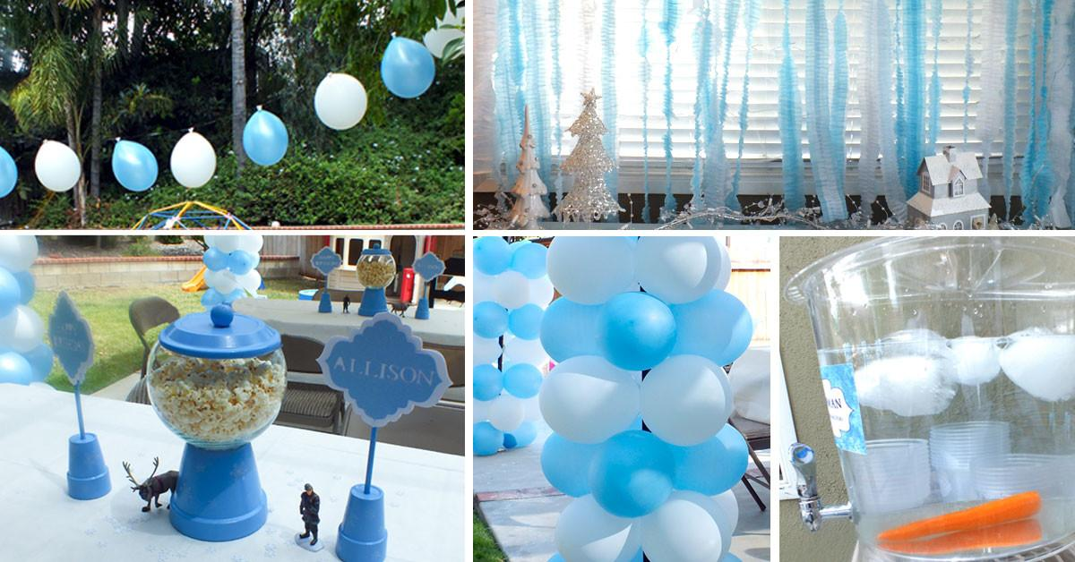 Disney Frozen Party Decoration Ideas Two Sisters